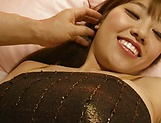 Chisa Hoshino gives a blowjob and titty fuck