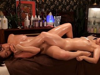 Japanese Asian milf gets an arousal massage
