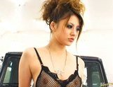 Risa Tuskino Hot Asian doll shows off her nice tits in lingerie