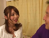 Ayu Sakurai, hot Asian milf gives stunning handjob picture 14