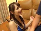 Charming brunette Mao Kurata seduces a hunk stud picture 13