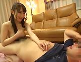 Charming brunette Mao Kurata seduces a hunk stud