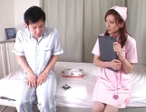 Anal sex with superb Asian nurse, Emi Harukaze picture 2