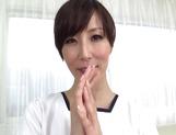 Reiko Sawamura enjoys dominating this lad