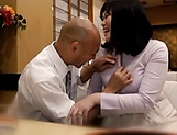 Throbbing rear fuck action for Japanese milf