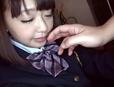 Tsujii Yuu showing off her luscious beavers picture 3