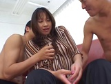 Nasty Asian bimbo double penetrated in a threesome picture 1