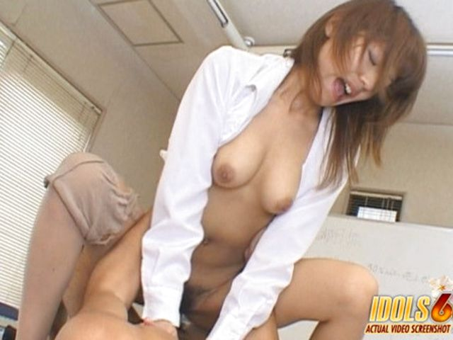 Arika Takarano Office Lady Costume Play Asian babe is taking a break from her office duties with her boss