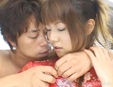 Arika Takarano Stocking Av Idol Asian babe Enjoys Getting Her Kimono Clad Body Fucked From The Back picture 12