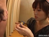 Arisa Kanno Participates In A Group Cocksucking Session