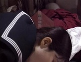 Adorable schoolgirl Rina Kougen gives head and fucks hard picture 15