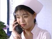 Sexy nurse Hitomi Kouya in stockings gets hardcore banging from doctor