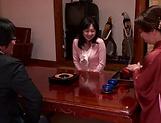 Horny Okazaki Hanae slides her fingers down picture 11