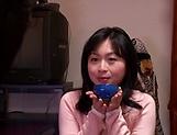 Horny Okazaki Hanae slides her fingers down picture 14
