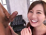 Tatsumi Yui gives head before a sensual fuck picture 6