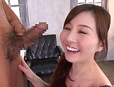 Tatsumi Yui gives head before a sensual fuck picture 7