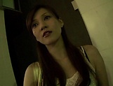 Sexy Asian milf perfoming a sweet blowjob picture 14