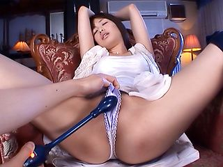Nanami Kawakami hot Asian milf is tied and toyed in gangbang