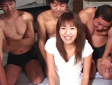Hikaru Nishino creamed on face after gangbang sex picture 5