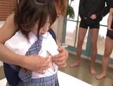 Gangbang porn scenes with cock sucking teen Chika Sena