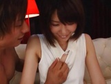 Brave Japanese chick with tiny tits Nanami Kawakami enjoys bukkake picture 3