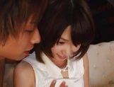 Brave Japanese chick with tiny tits Nanami Kawakami enjoys bukkake picture 6