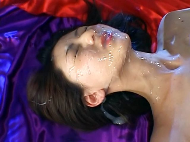 Juicy hottie with bubble ass Hikari Sawami gets massive facial load