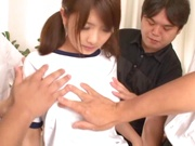 Cute Japanese AV model gives blowjobs gets multiple facial cumshots