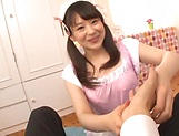 Sizzling hot blowjob performed by Kamiki Sayaka picture 11