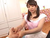 Sizzling hot blowjob performed by Kamiki Sayaka picture 12