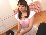 Sizzling hot blowjob performed by Kamiki Sayaka picture 14