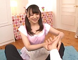 Sizzling hot blowjob performed by Kamiki Sayaka