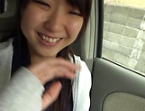 Houtsuki Haruna giving head in a car picture 11