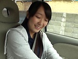 Houtsuki Haruna giving head in a car
