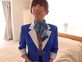 Nanahara Akari opens legs for the captains's dick picture 11