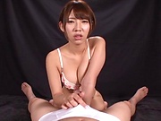 Otoha Nanase  enjoys giving kinky ball sucking