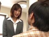 Naughty Japanese milf, Ichika Kanhata is aroused by her horny student