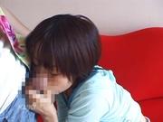 Amateur girl provides blowjob in sensual ways