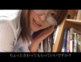 Gorgeous milf in glasses Ai Himeno sucks cock gets ass licked