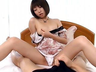 Horny babe Chika Sena has a POV Asian masturbation session