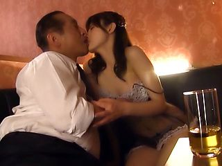 Horny mature MILf Iioka Kanako sucks and fucks a guy on the couch