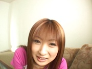 Superb POV blowjob by naughty Mio Ayase