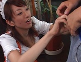Juri Kano applies strong treatment to her master's ass picture 11