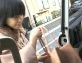 Amazing Japanese gives oral in the car outside