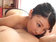 Sexy milf Mimi Kousaka enjoys tit fucking and deep sucking