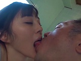 Lusty Suzuhara Emiri on her knees sucking dick picture 7