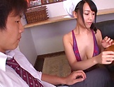 Nagase Asami gets a messy cum in mouth