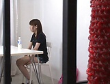 Ebina Rina showing her amazing blowjob skills picture 12