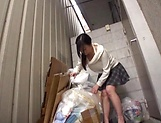 Alluring Asian babe seduced and gives blowjob picture 2