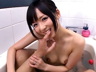 Amateur MILF Yuu Asakura sucks her hubby in the bathtub